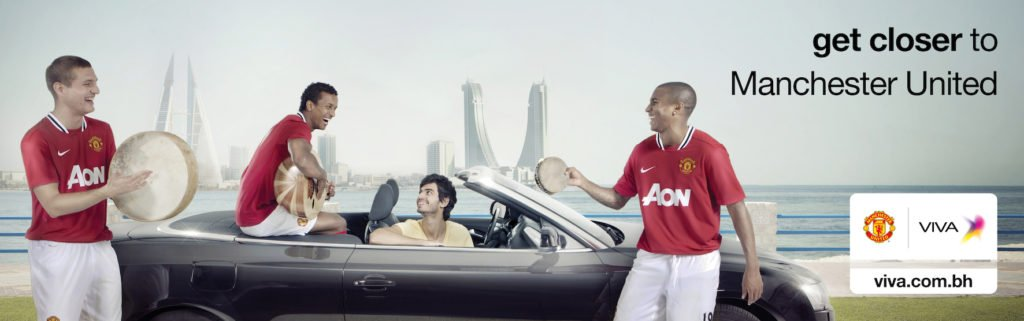 Manchester United Viva Bahrain advert players in car | Make up and hair by Rebecca Anderton in Manchester at www.rebeccaanderton.co.uk