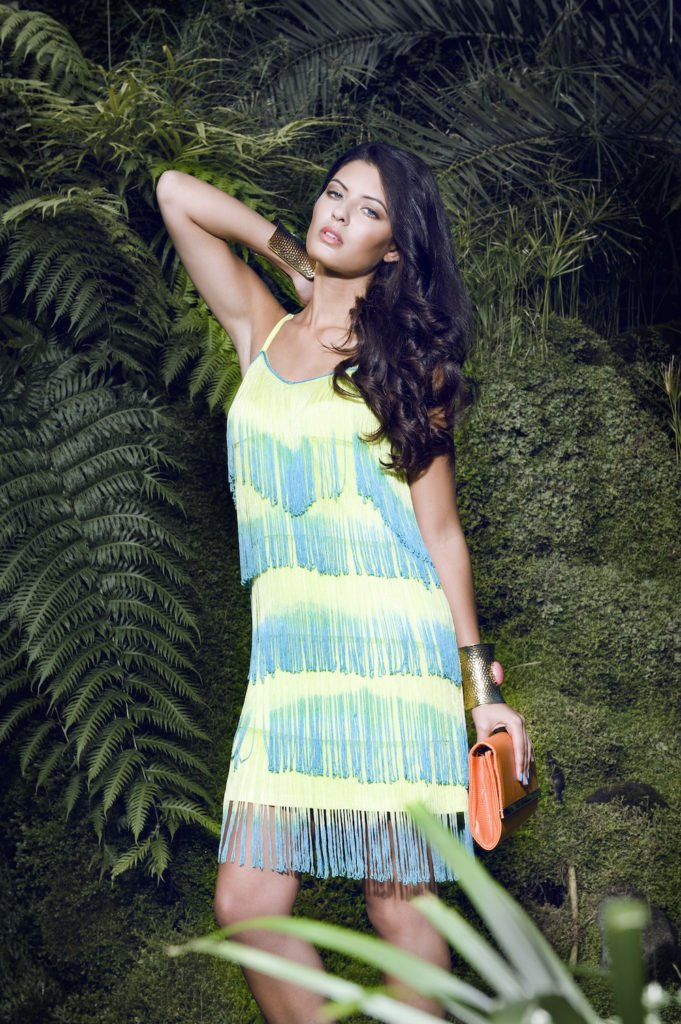 Daisy Street neon fringe dress | Make up and hair by Rebecca Anderton in Manchester at www.rebeccaanderton.co.uk