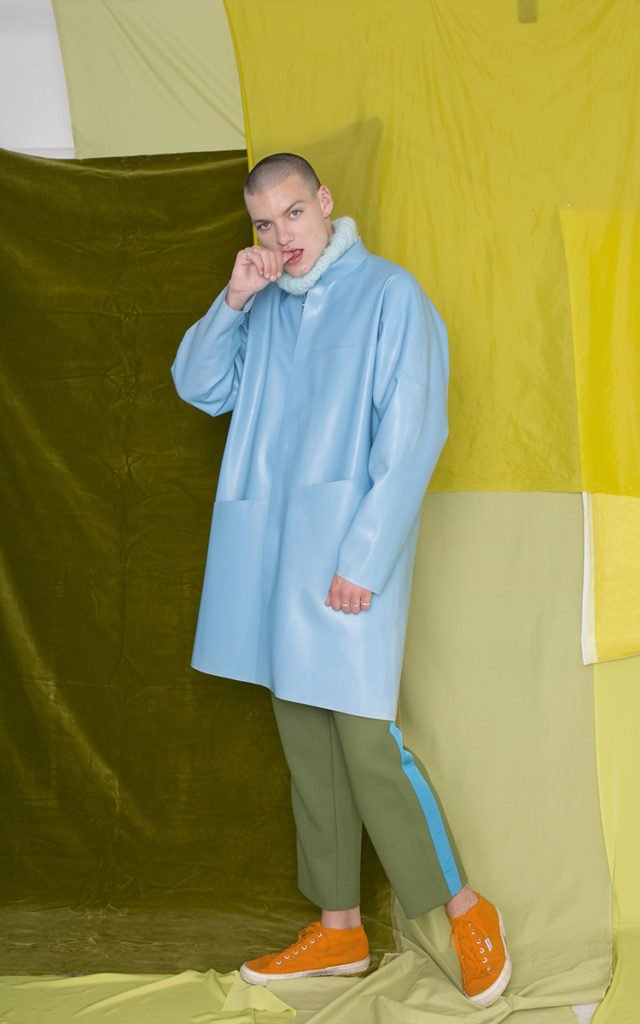 Mens fashion editorial grooming by Rebecca Anderton Make Up Artist for Indie Mag